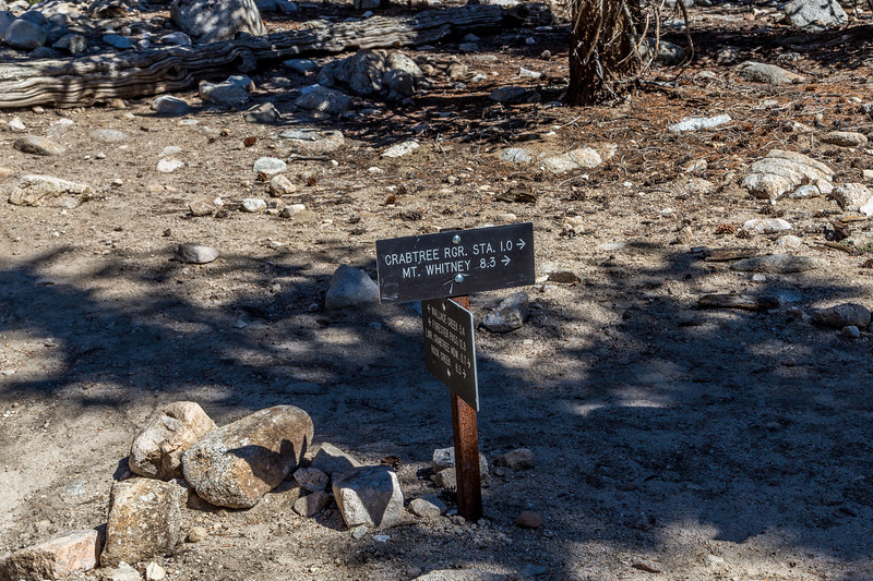 Trail sign Mt Whitney 8 3 miles 9-15-17_MG_4897