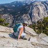 Kathy on Half Dome trail 8-28-17_MG_3427