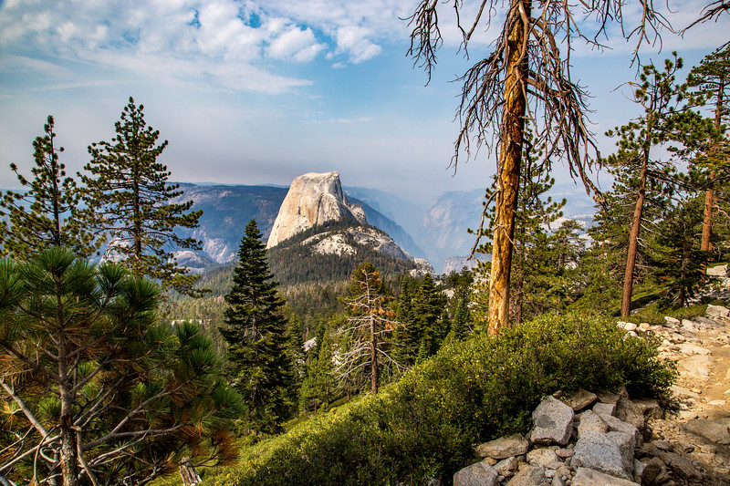 Half Dome and Yosemite Valley from Clouds Rest trail 8-29-17_MG_3535