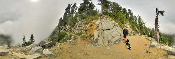 Rainer and Holly at the north end of the Katwalk. This is a flat equirectangular image that can be viewed as a 360 panorama at: http://www.360cities.net/image/kendall-katwalk-north-side-snoqualmie-national-forest-wa-state#-53.94,-6.34,70.0