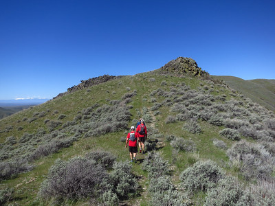 Old road ridge traverse.