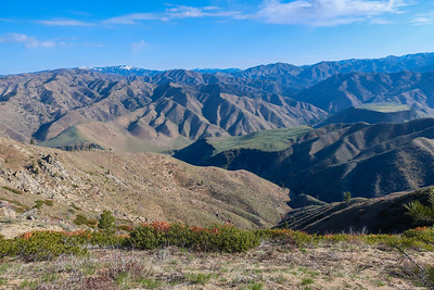 Looking north, S Fork of Boise river valley.