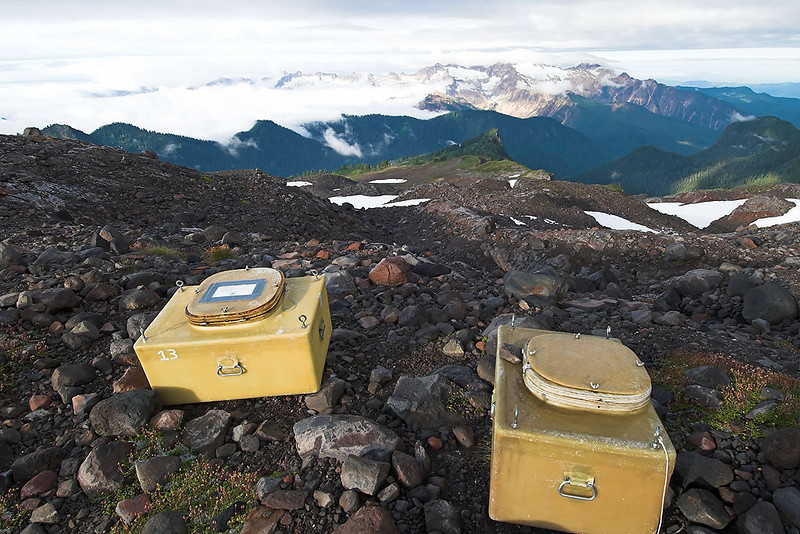 A commode with a view and a COLD seat!