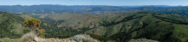 Summit pan to the west and north.