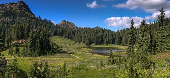 Tipsoo Lake Stitched Panorama