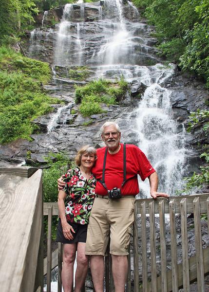 Susan and Mike at Amacalola Falls