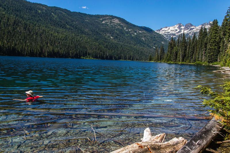 PCT 2016 Janice swiming Waptus Lake 7-27-16_MG_0793