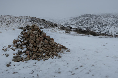 The rock pile indicates the summit, and progress.
