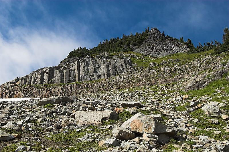 Columnar rock.