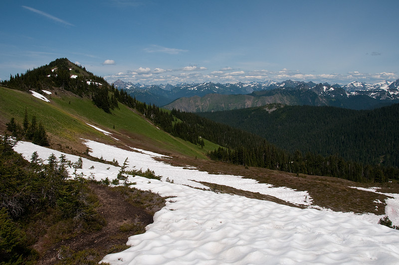 Looking northeast from the start of Chowder ridge.