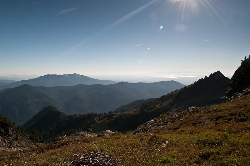 View southwest from the Gap with part of Puget Sound.