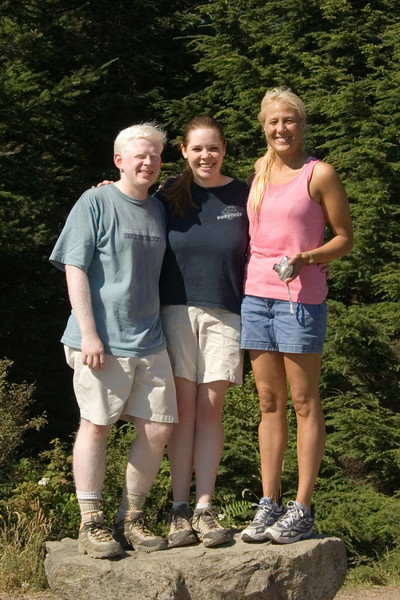 Ben, Sarah, and Sydney at the summit