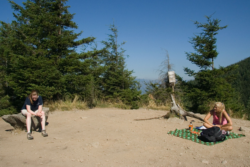 Resting at the summit