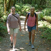Sarah and Sydney starting up the trail