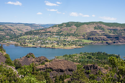 The little town of Lyle Washington, across the Columbia River