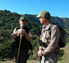 Bob Doyle, hike leader, with David Loeb, Bay Nature.