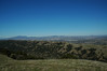 Looking east: Foreground, Pleasanton Ridge.  Background right, Brushy Peak, left, Mount Diablo.