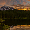Mt Rainier sunrise at Reflection Lake