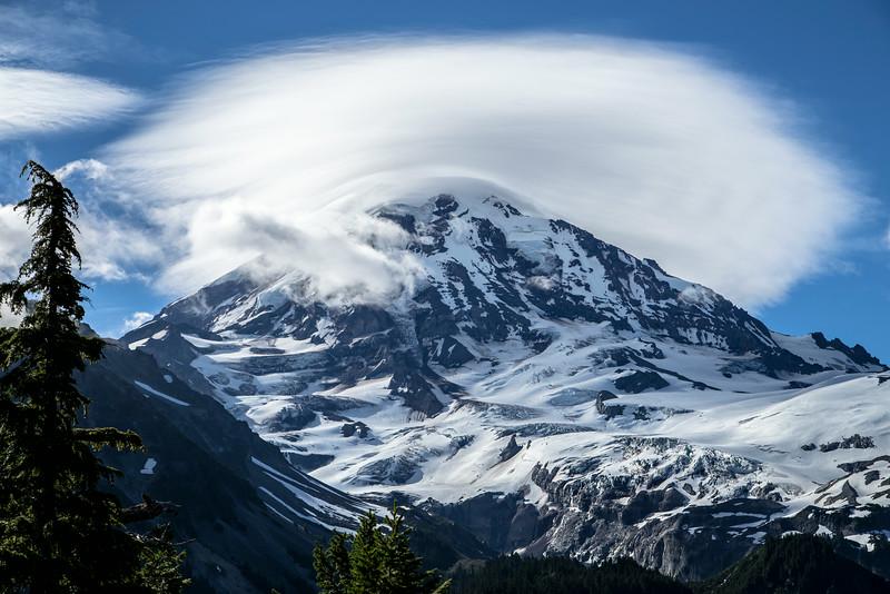 Day 7 Lenticular Cloud over Mt Rainier-Spray Falls 7-19-14_7634