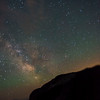 While there are better reasons to do it, the wait for the stretcher team allowed us to see the spectacular night sky over Mount Rainier.  This particular show was the best I could do to capture the Milky Way while using rocks, etc. as a crude replacement for a tripod.