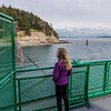 Hannah on the ferry from Annacortes to Orcas Island