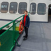 Aaron on the ferry from Annacortes to Orcas Island