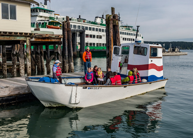 The landing craft that would take us from Orcas Island to Canoe Island
