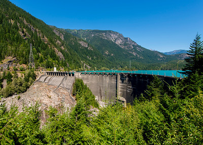 Diablo Dam on the Skagit river.