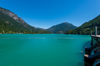 Diablo Lake from the top of the Diablo Dam.