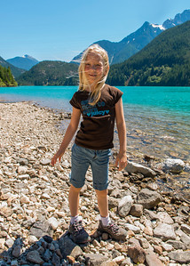 Hannah on the shores of Diablo Lake