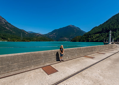 Hannah on top of the Diablo Dam.