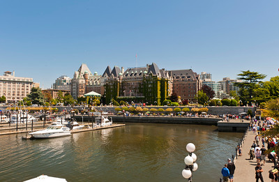 The Empress Hotel on Victoria's inner harbor.