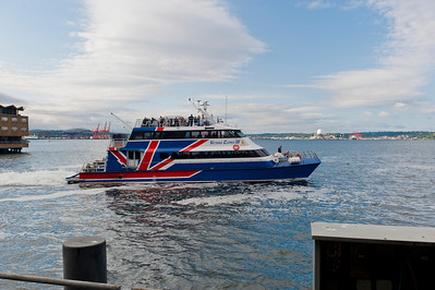A Victoria Clipper on its way to the San Juan's for a whale watching excursion.