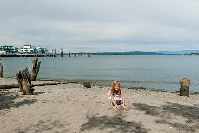 Kaitlyn at the Annacortes ferry dock