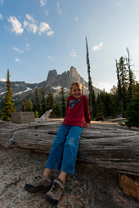 Aaron with Liberty Bell mountain near Washington Pass in the background.