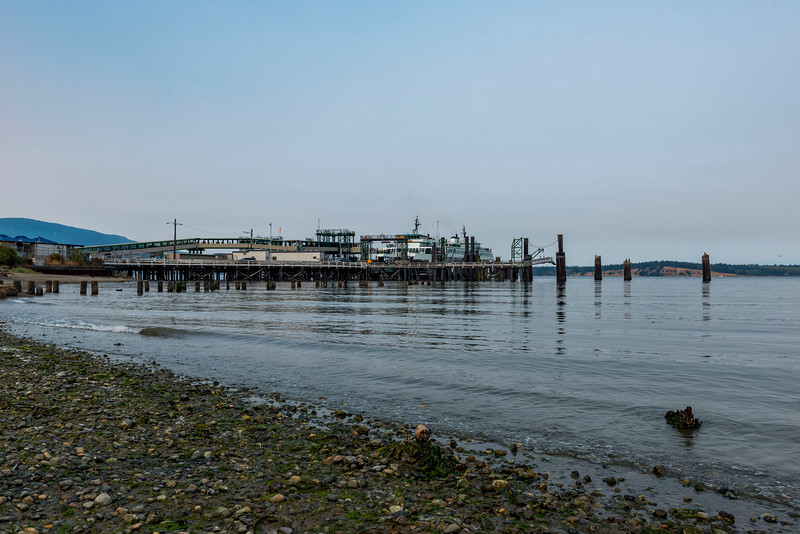 The ferry terminal in Annacortes, waiting for the ferry to Orcas Island.