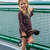 Hannah aboard the ferry from Annacortes to Orcas Island.
