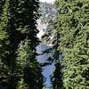Snow Lake Through Trees