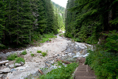 "The Denny Creek ""water slide"""