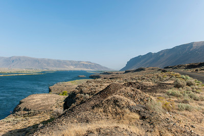 The Columbia River south of the Wanapum Dam near Vantage, WA