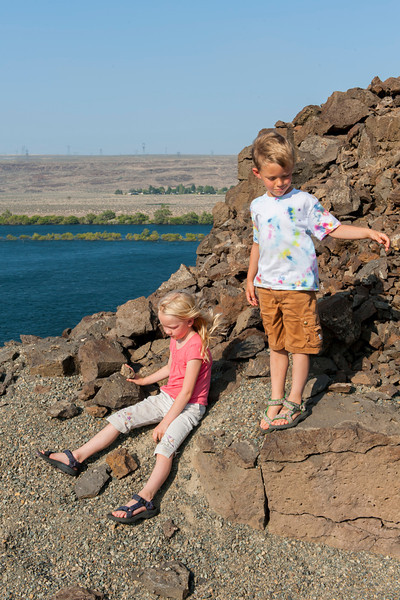 Hannah and Aaron near the Wanapum Dam on the Columbia River just south of Vantage, WA
