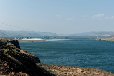 The Wanapum Dam on the Columbia River just south of Vantage, WA