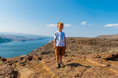 Aaron with the Columbia River in the background.