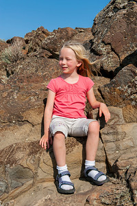 Hannah at an overlook over the Columbia River near Vantage, WA