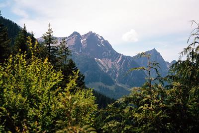 Peaks northwest of Barlow Point