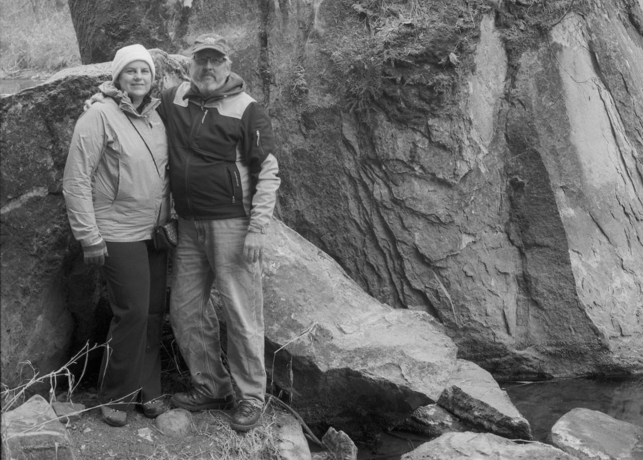 Carolyn and I at Flaming Geyser