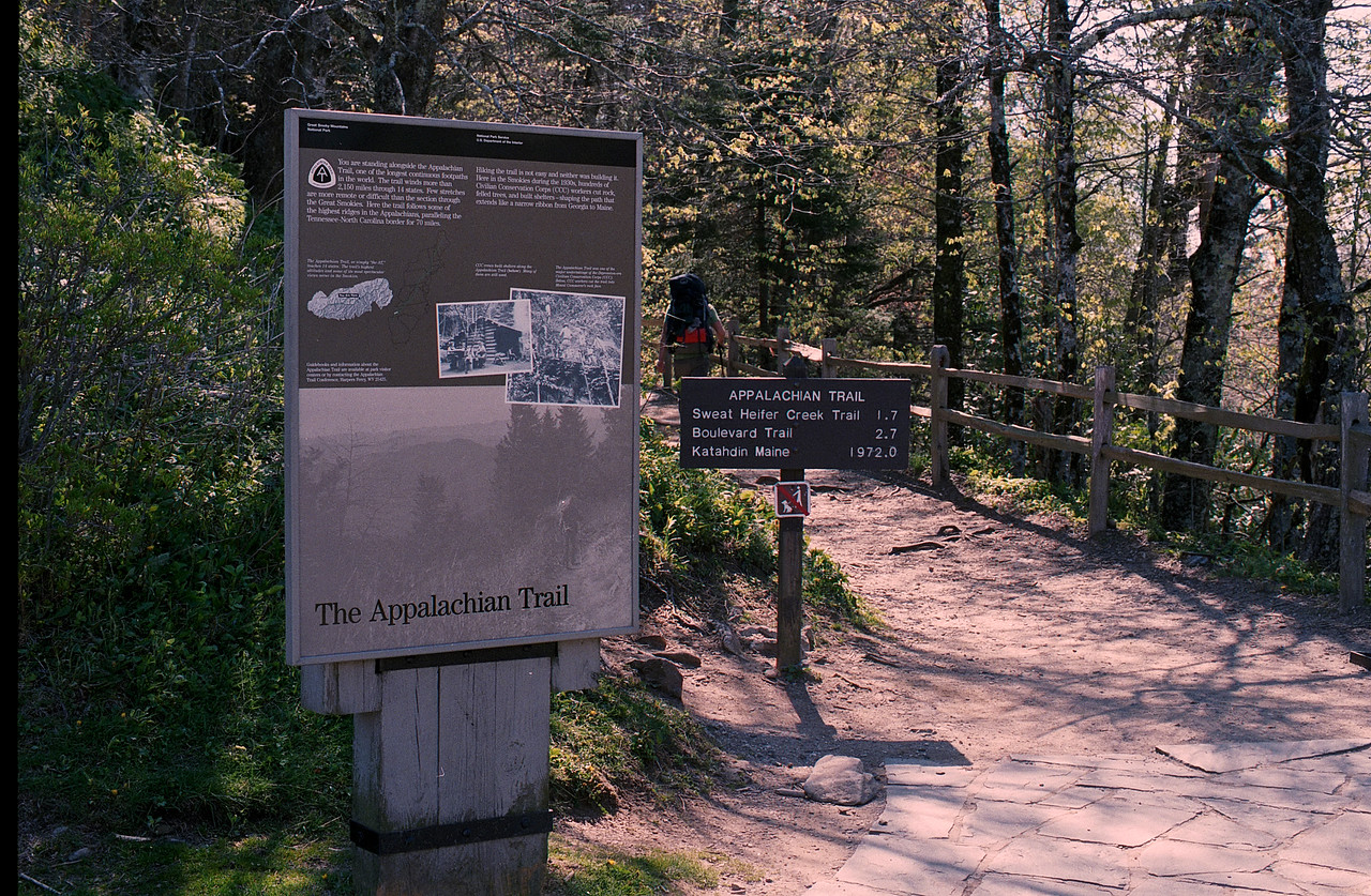Appalachian Trail at Newfound Gap