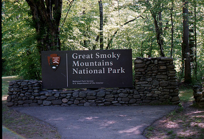 Great Smokey Mountains National Park Sign