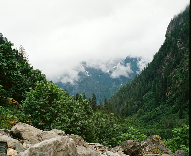 Looking up the valley