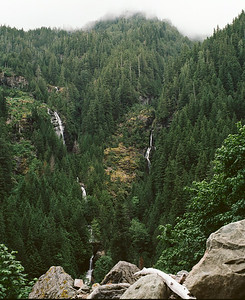 Waterfalls aross the valley